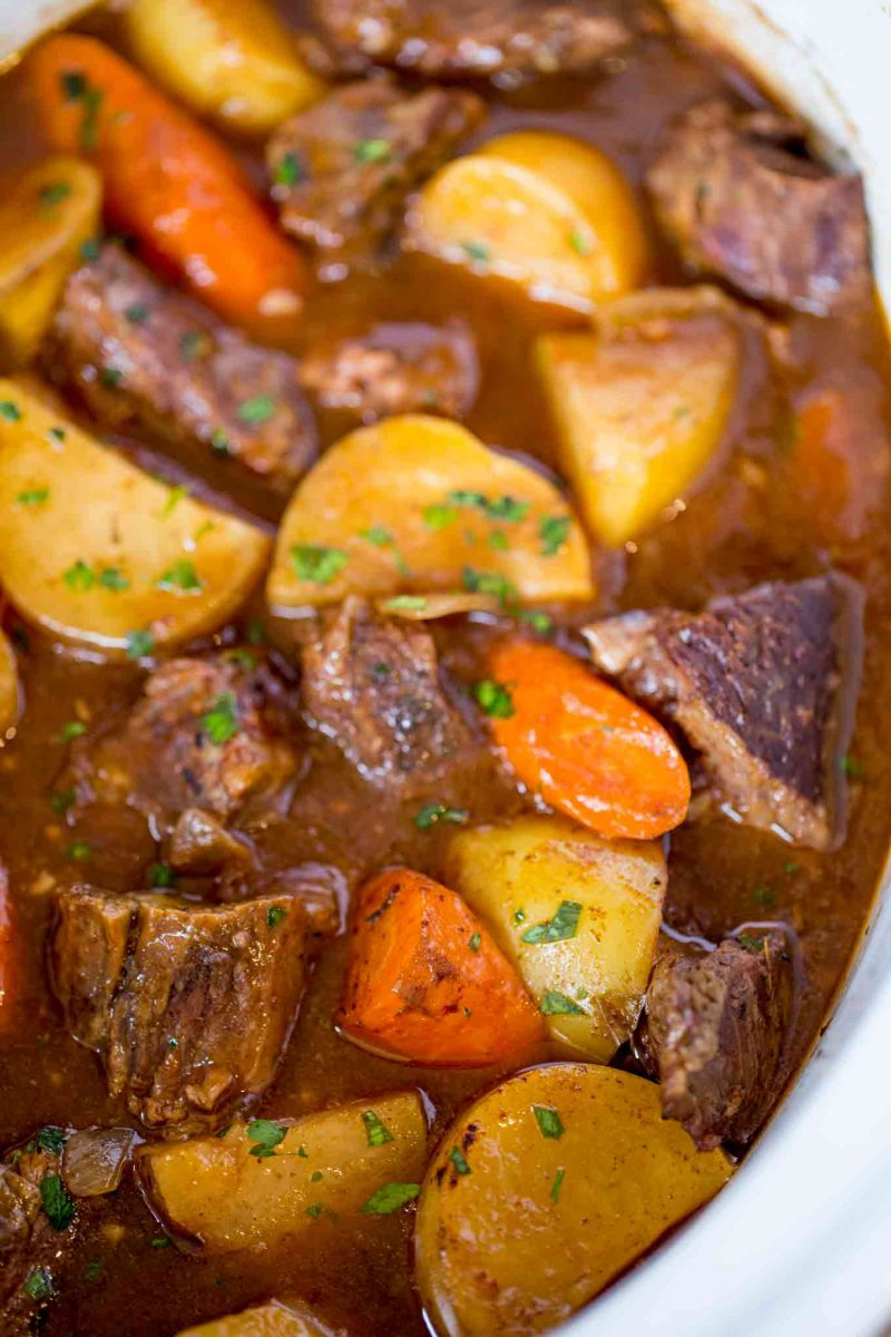 Ultimate Slow Cooker Beef Stew - Dinner, then Dessert