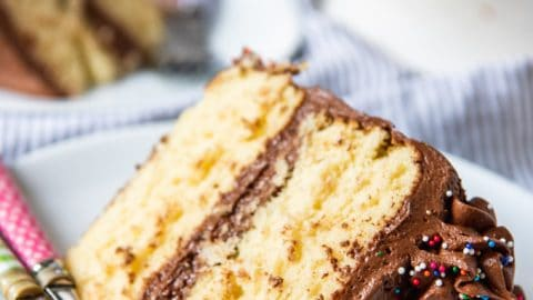 Yellow Cake with Chocolate Frosting - House of Nash Eats