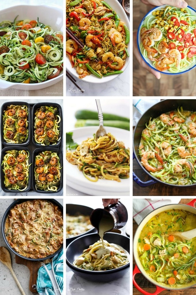 39 Healthy Zoodle (Zucchini Noodle) Recipes - Dinner at the Zoo