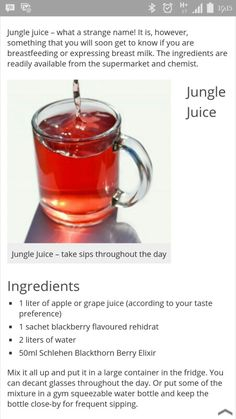 Recipe For Jungle Juice For Breastfeeding - Best Recipes Around ...