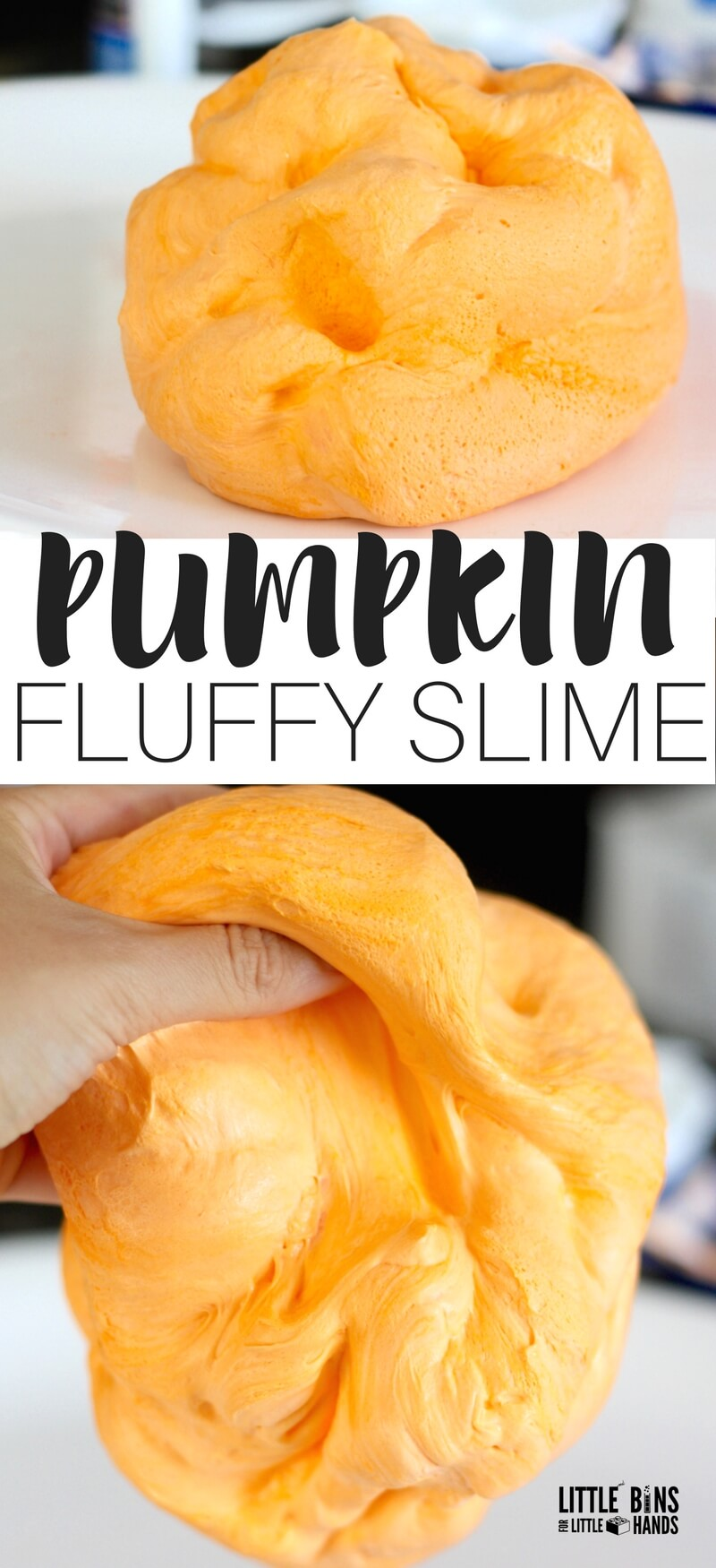 Pumpkin Fluffy Slime Recipe : Fall and Halloween Slimes