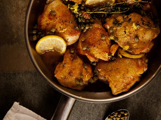 Zesty Braised Chicken with Lemon and Capers Recipe - Grace Parisi ...