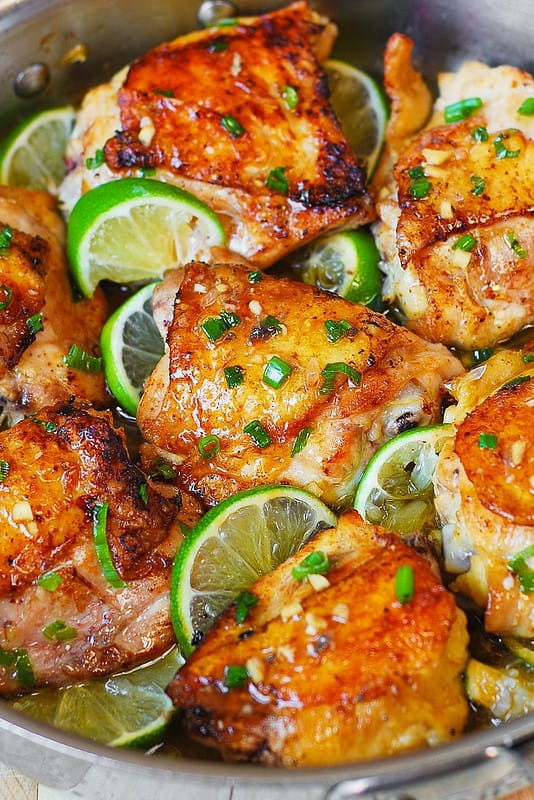 Honey Lime Chicken Thighs - Julia
