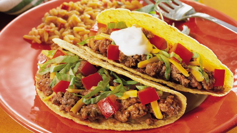 Ground Beef Tacos Recipe - Pillsbury