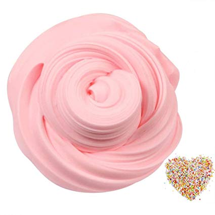 Amazon: SLOUEASY- 7oz Crystal Pink Fluffy Slime with Foam ...