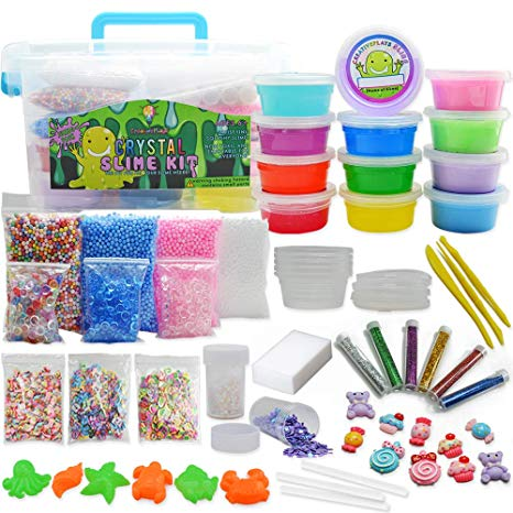 Amazon: Jumbo DIY Clear and Fluffy Slime Kit - Supplies The ...