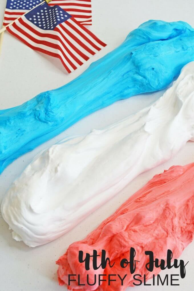 4th of July Fluffy Slime Recipe with Shaving Cream   Little Bins ...
