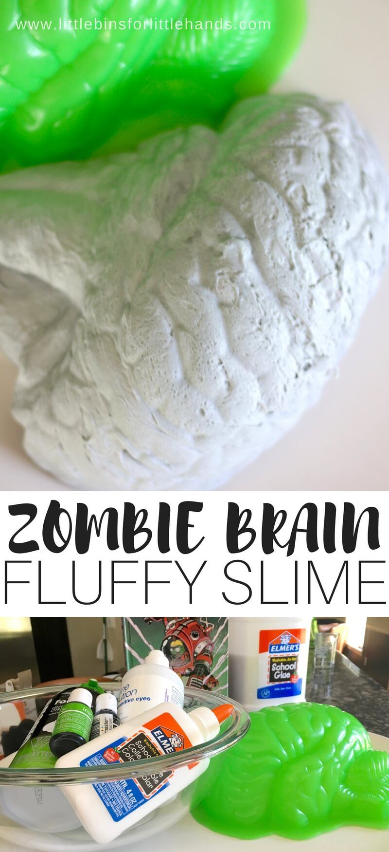 Fluffy Zombie Slime Recipe for Kids | Early Learning- Science ...