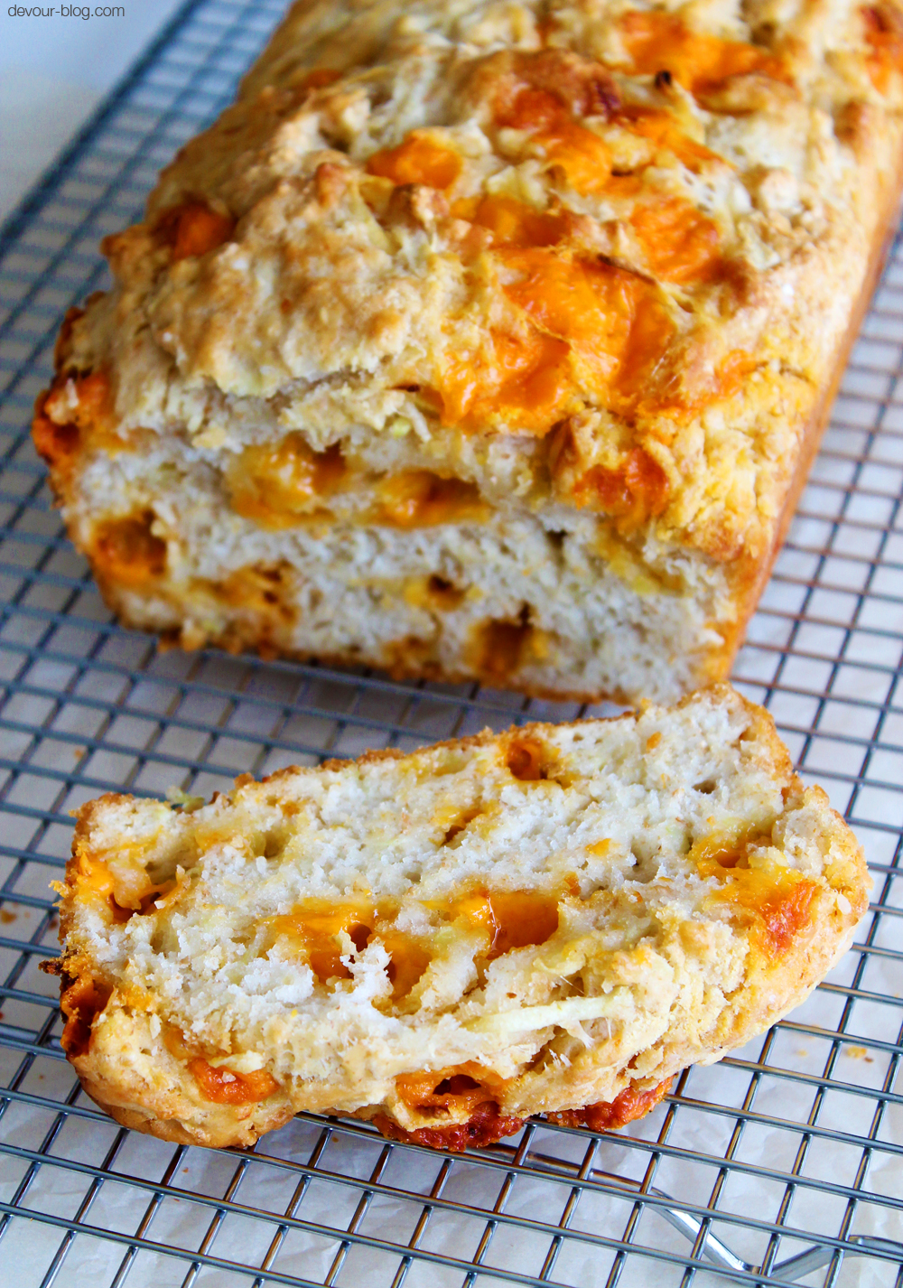 Apple Cider Cheddar Bread