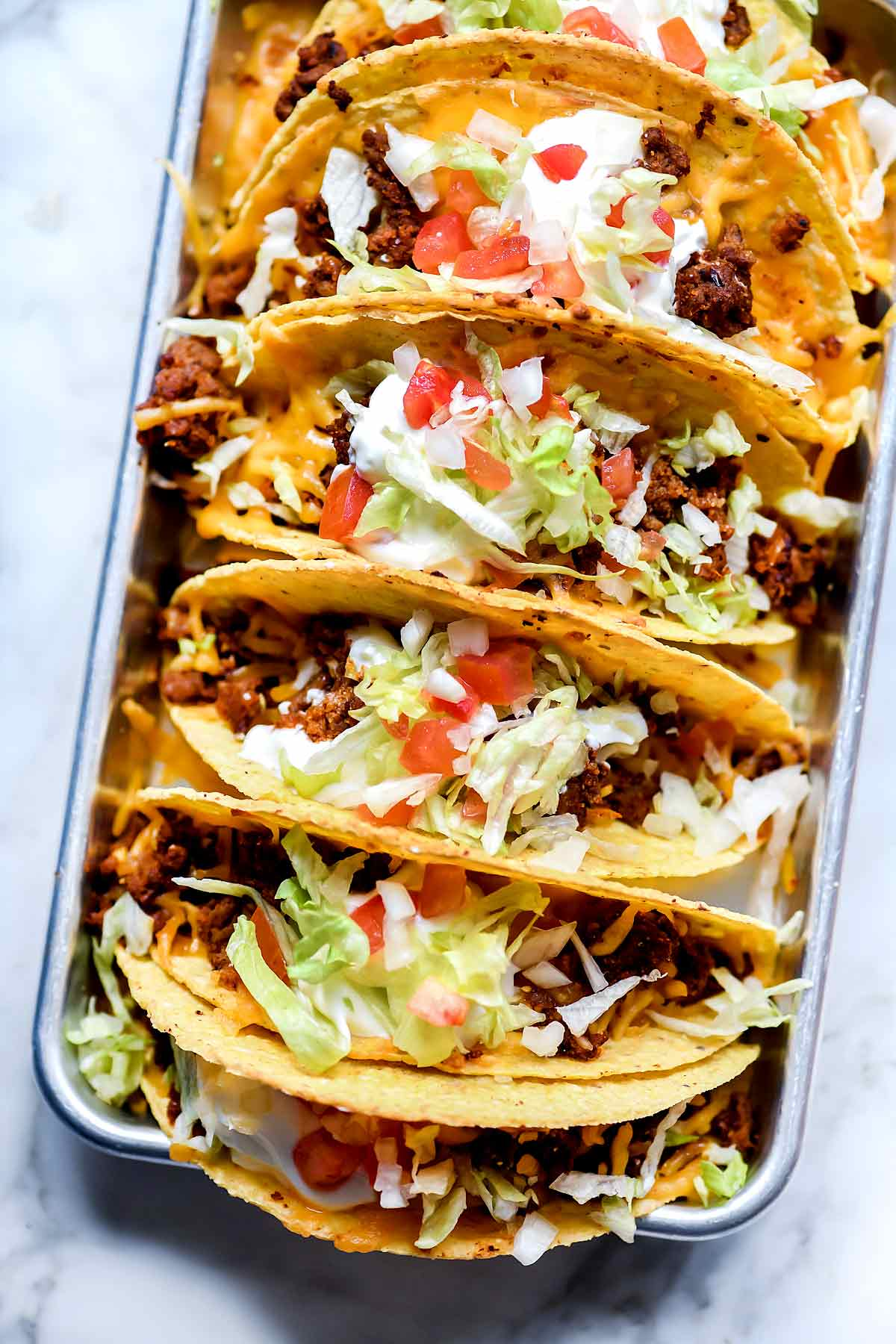 Just Like Taco Bell Tacos Recipe | foodiecrush