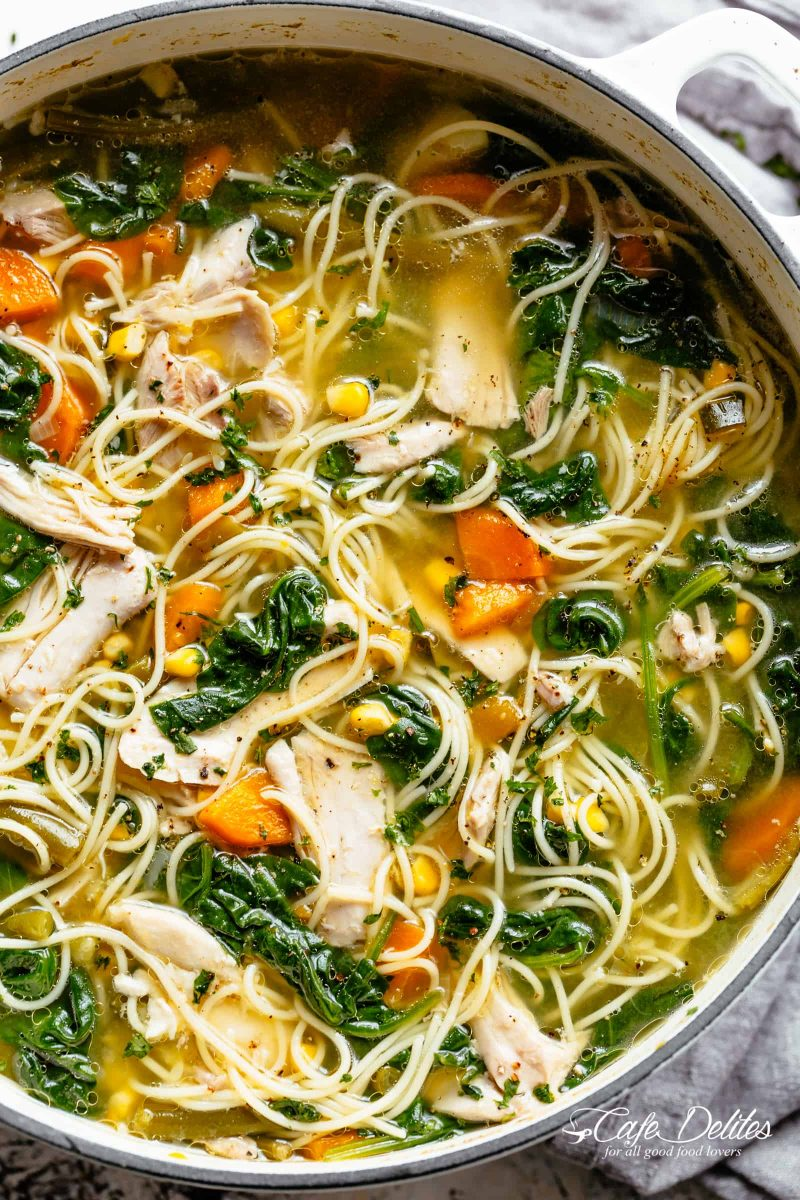 Chicken Noodle Soup - Cafe Delites