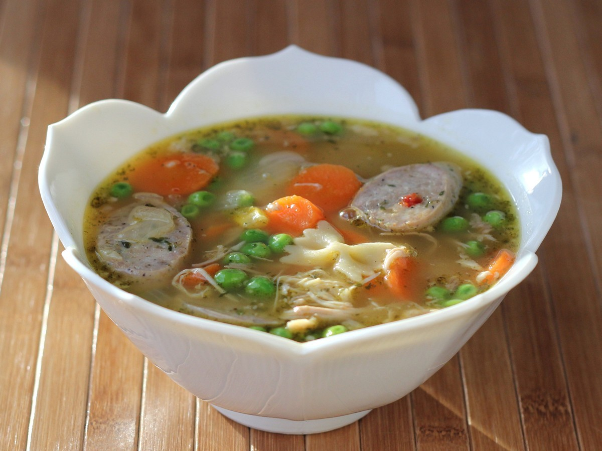 Cookistry: Chicken-Sausage Chicken-Thigh Chicken Noodle Soup