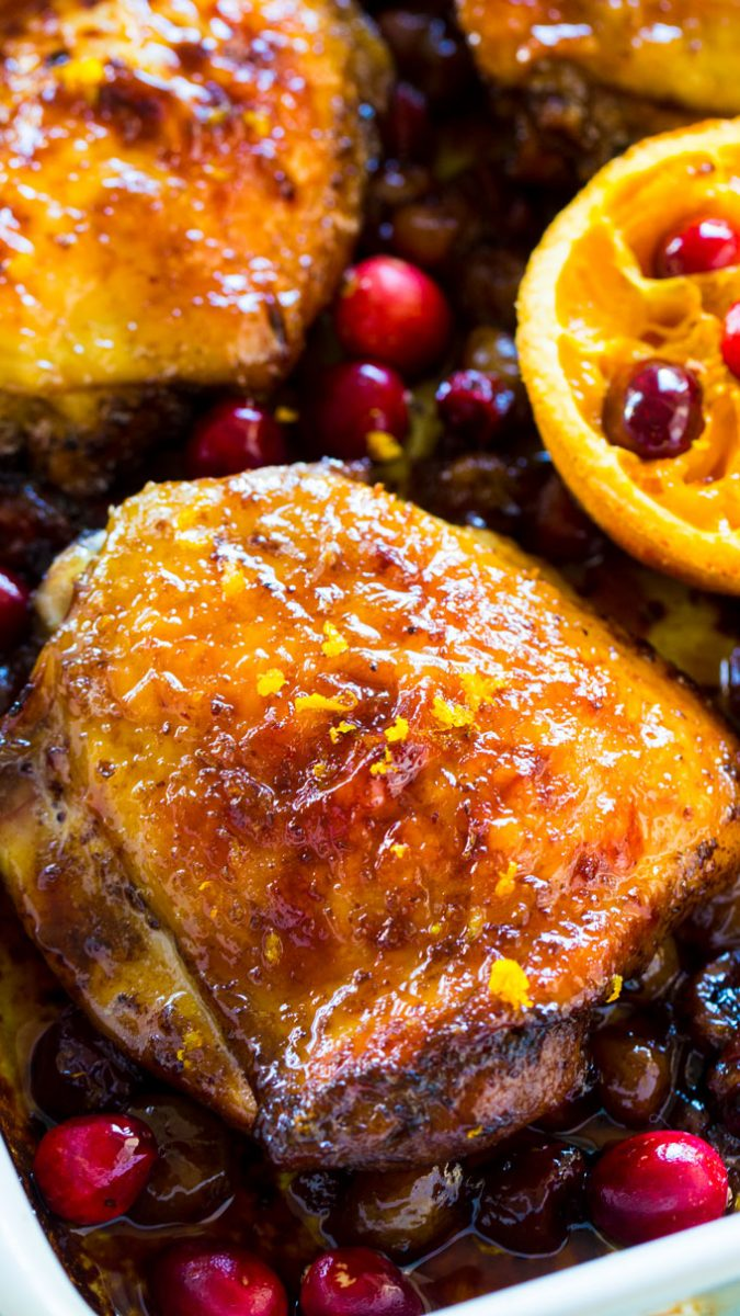 Cranberry Orange Chicken - One Pan [Video] - Sweet and Savory Meals