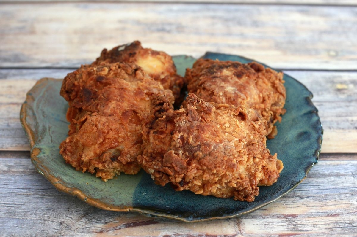 Crispy Oven-Fried Chicken Thighs or Legs
