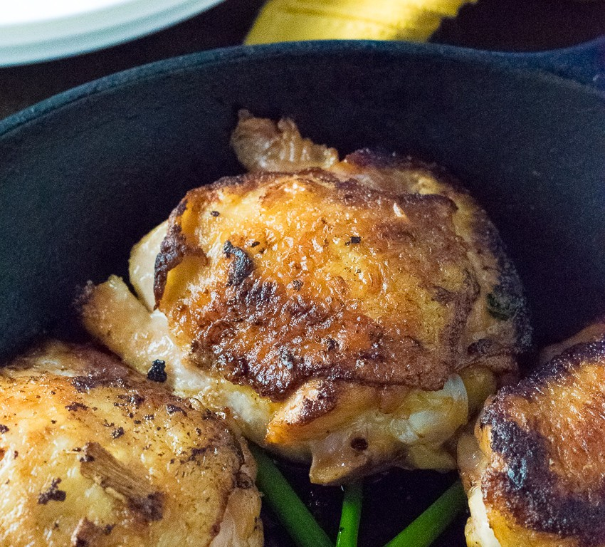 Crispy Soy Brined Chicken Thighs - Fox Valley Foodie