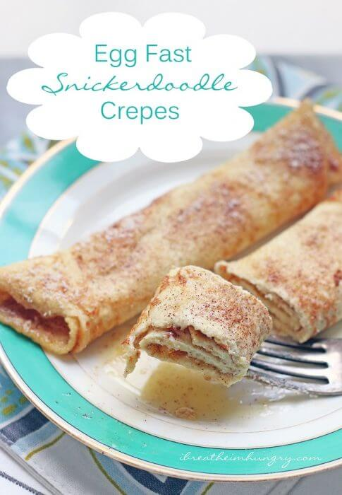 Keto Egg Fast Snickerdoodle Crepes (Low Carb) | I Breathe I