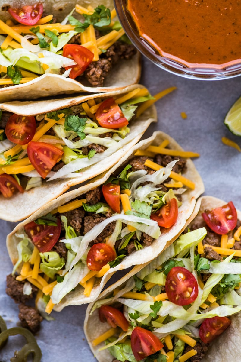Easy Ground Beef Tacos - Isabel Eats