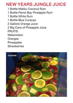 24 Best Jungle juice recipes images in 2019 | Alcohol, Food ...
