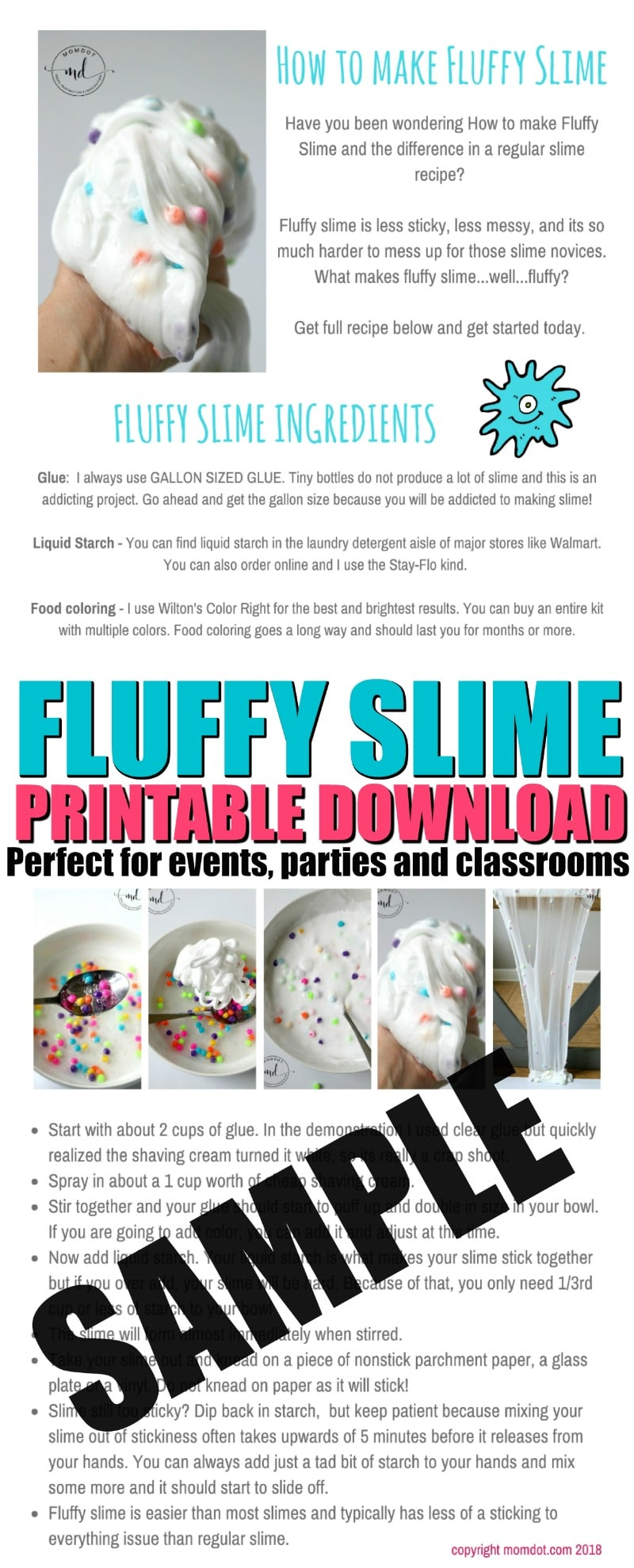 How to make Fluffy Slime with Shaving Cream