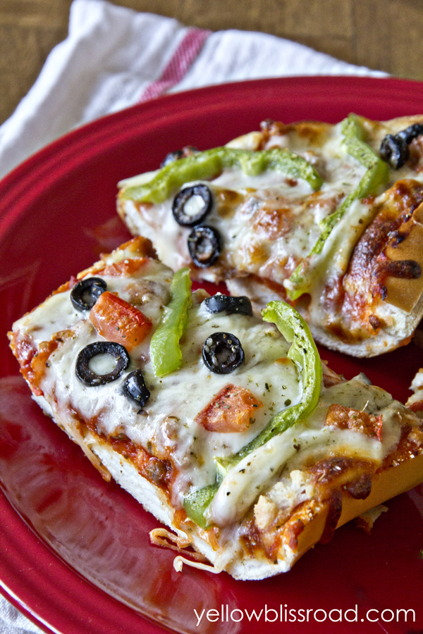 French Bread Pizza - Yellow Bliss Road