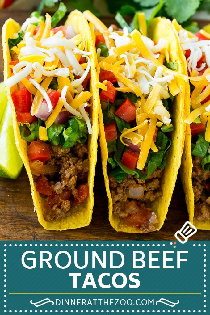 Ground Beef Tacos - Dinner at the Zoo