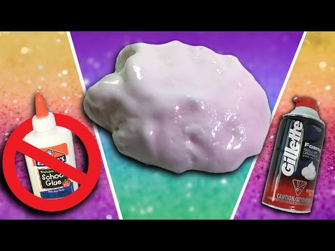How To How to make Fluffy Slime without Glue, Borax, Detergent, or ...