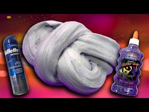 How to make Fluffy Slime with Gel Shaving Cream and Glitter! No ...