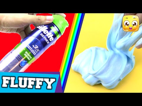 How To Make Fluffy Slime With SHAVING GEL DIY Without Borax or ...