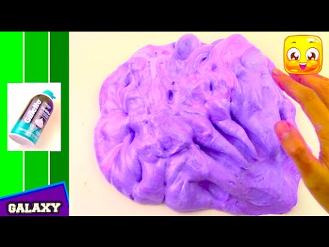FLUFFY SLIME Tutorial With SHAVING CREAM DIY How To Make Galaxy ...
