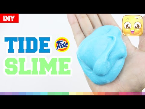 How To Make Slime With TIDE and GLUE DIY Without Borax, Liquid ...