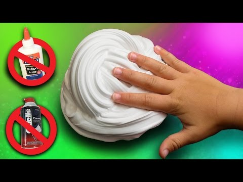 Fluffy Slime without Glue or Shaving Cream! DIY Fluffy Slime How ...
