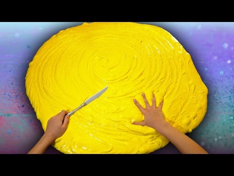 Butter Slime GIANT SIZE How To! $100 DIY Slime Challenge Recipe ...