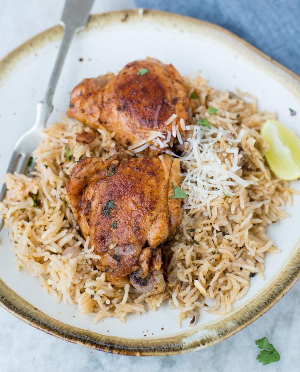 INSTANT POT GARLIC HERB CHICKEN AND RICE - The flavours of kitchen