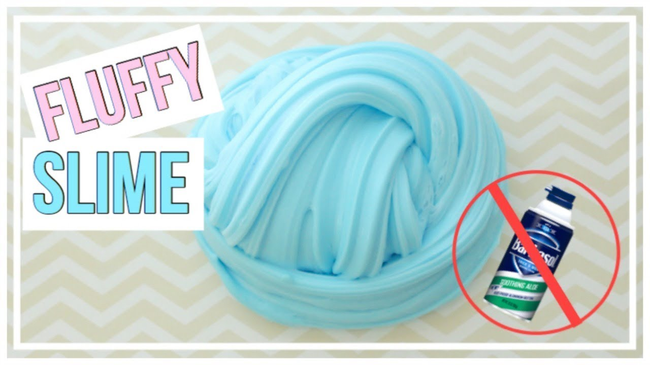 DIY FLUFFY SLIME WITHOUT SHAVING CREAM - YouTube