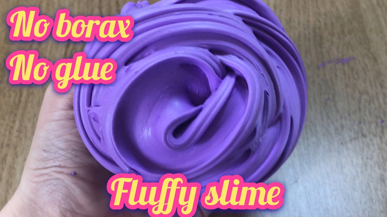 MUST TRY!!! REAL!! DIY FLUFFY SLIME WITHOUT GLUE No Borax, No ...