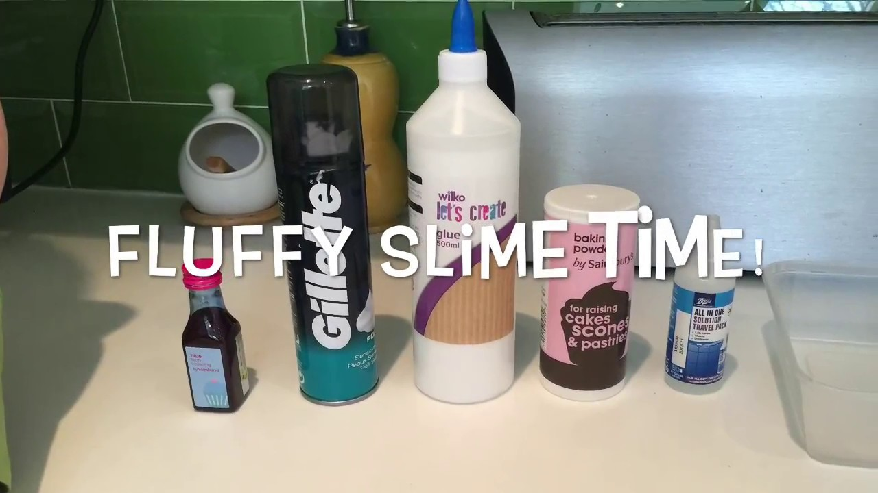 Successful Fluffy Slime With UK Ingredients - YouTube