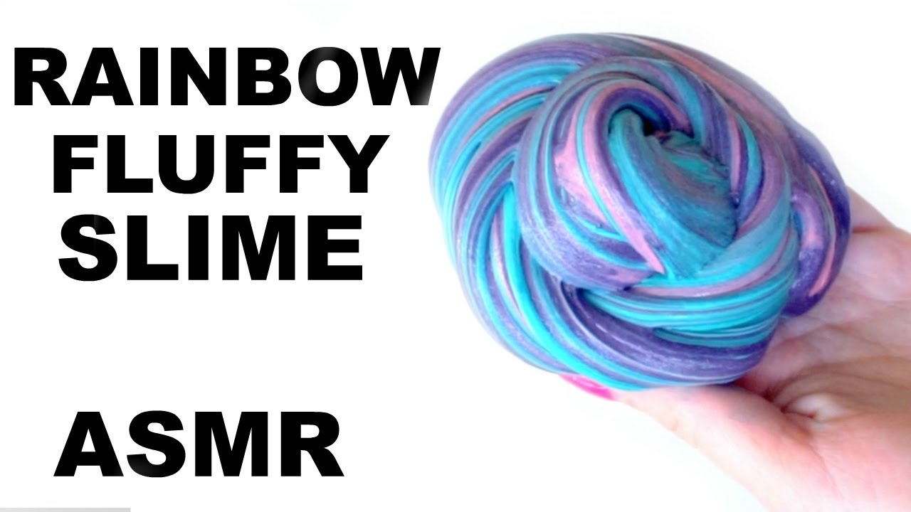 HOW TO MAKE FLUFFY SLIME! RAINBOW SLIME WITHOUT BORAX DETERGENT ...