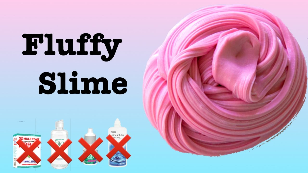 How to make the best Fluffy Slime without borax, contact solution ...