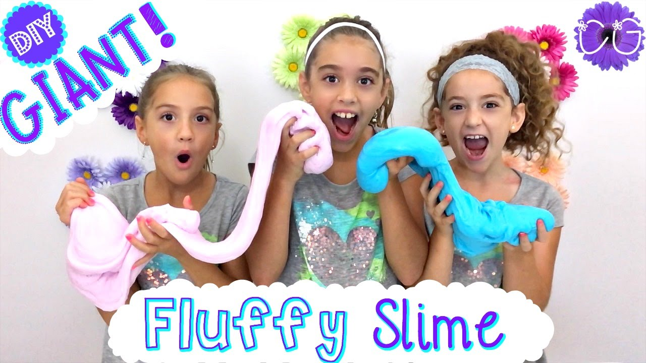 DIY FLUFFY SLIME! GIANT FLUFFY SLIME! - YouTube