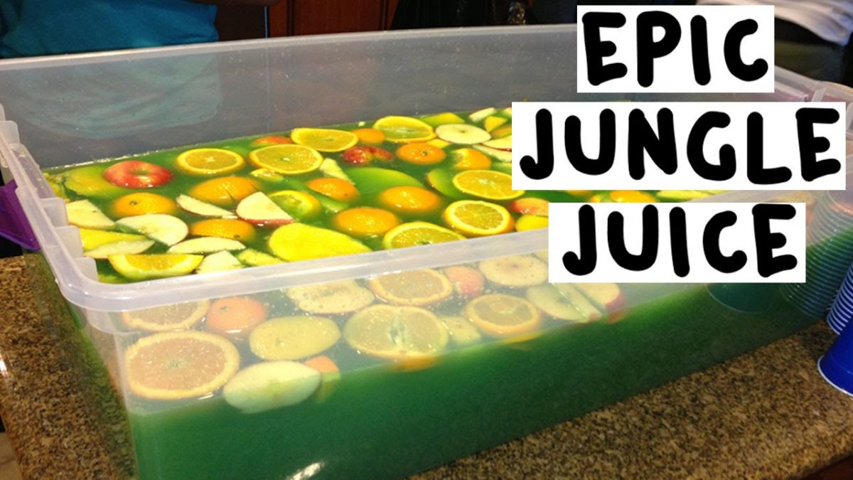 How to make an Epic Green Jungle Juice - Tipsy Bartender - YouTube