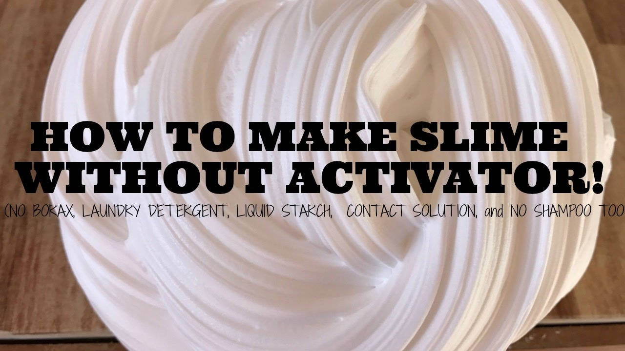 DIY SLIME WITHOUT ACTIVATOR - HOW TO MAKE SLIME WITH WOOD GLUE! NO ...