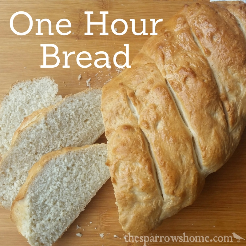 One Hour Bread: Fast & Easy Italian Bread Recipe | The Sparrow