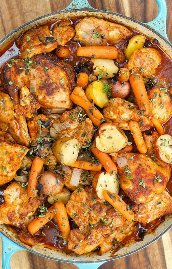 One-Pot Paprika Chicken Thighs - Reluctant Entertainer