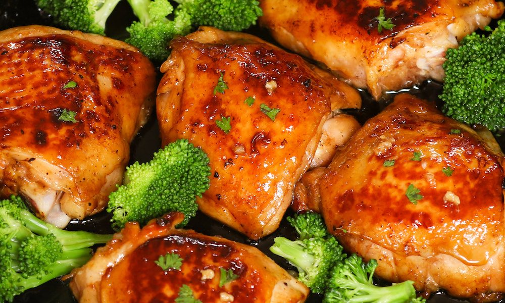 Oven Baked Chicken Thighs Recipe - TipBuzz