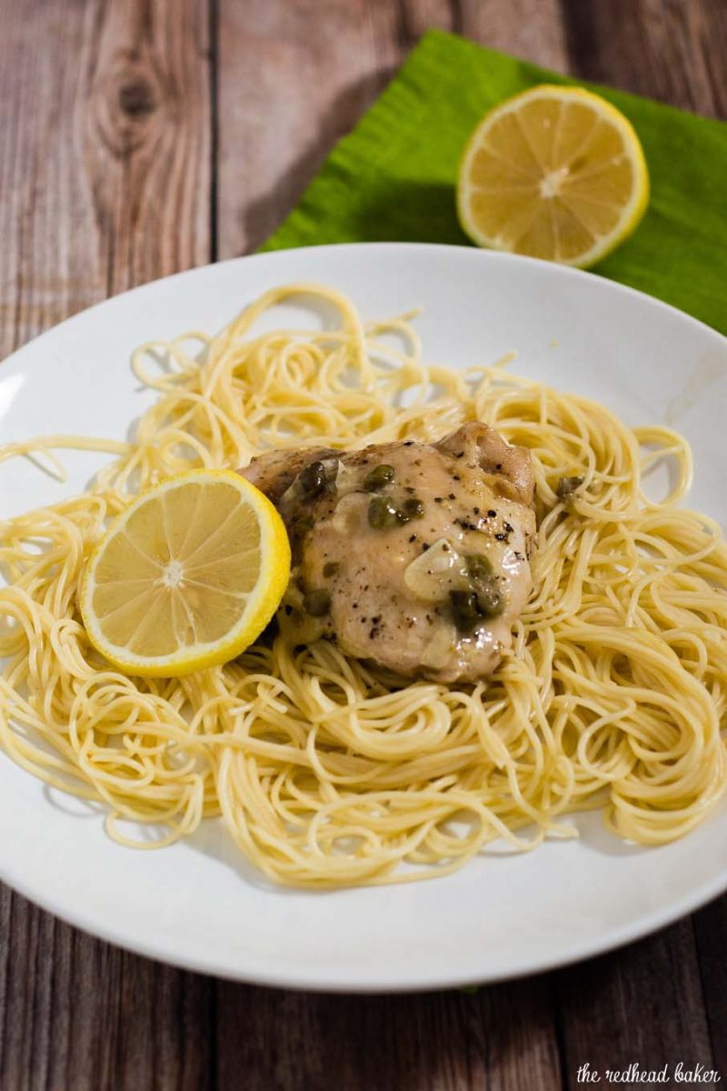 Quick Chicken Piccata by The Redhead Baker for #SundaySupper