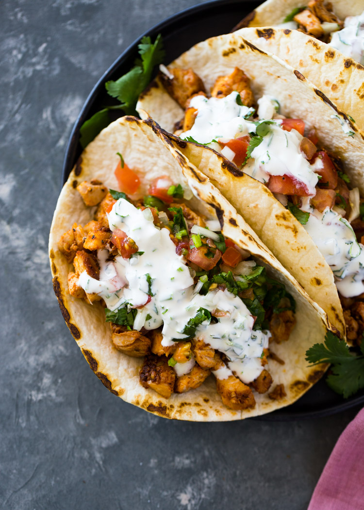 Easy 20 Minute Chicken Tacos | Gimme Delicious
