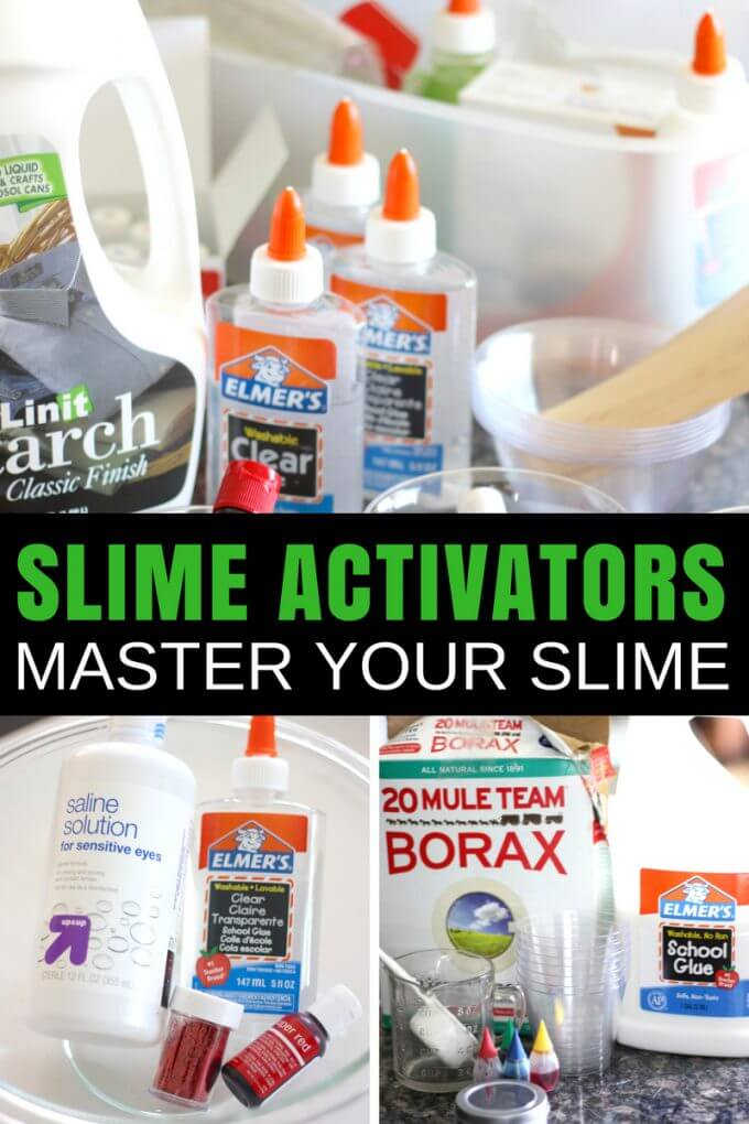Slime Activator List for Making Slime with Kids   Little Bins for ...