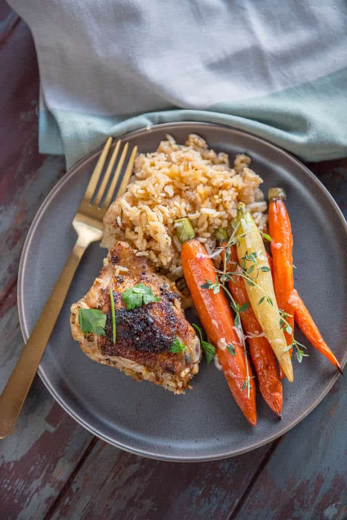 Slow Cooker Baked Chicken Thighs with Rice - Slow Cooker Gourmet