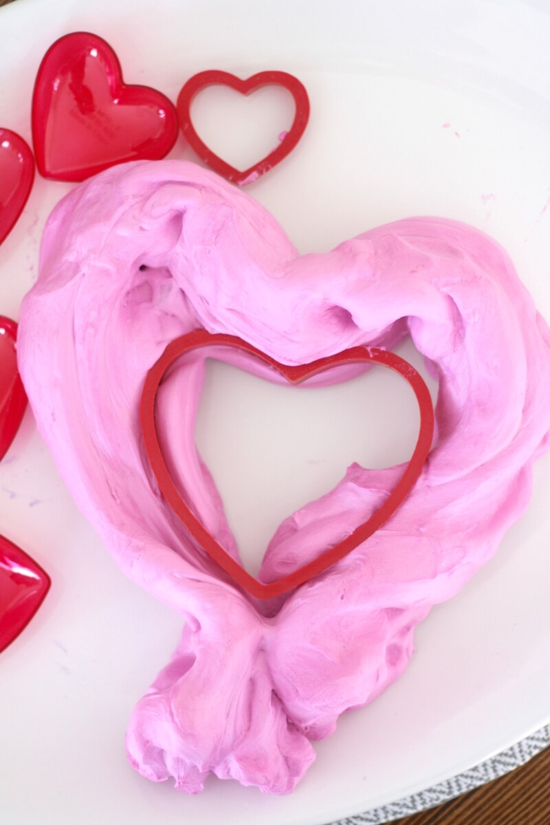 Make Valentines Day Fluffy Slime Recipe with Kids!