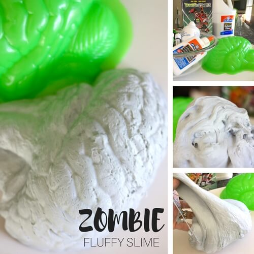 How To Make Zombie Slime with Fluffy Slime Recipe for Kids